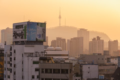 Namsan Sunset (zbdh12) Tags: street city travel sunset people architecture canon eos asia south korea seoul southkorea 6d