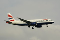 G-EUUK (IndiaEcho Photography) Tags: england london canon eos airport heathrow aircraft aeroplane civil airbus british ba airways middlesex hounslow airliner lhr airfield a320 baw egll geuuk 1000d