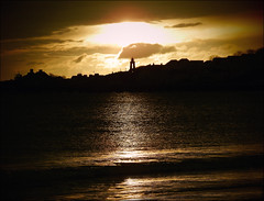 Swanage Clocktower (jo92photos) Tags: uk sea england silhouette sunrise reflections dawn coast seaside waves clocktower resort explore dorset coastline swanage jurassiccoast explored giveusyourbestshot 522015week4