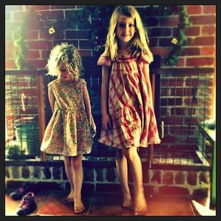 040/365 • dresses / tresses • #040_2015 #love #4yo #7yo #nofixedaddress #friends #sisters #family #visiting