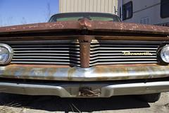 Pontiac Bonneville (taraschmidtphotog) Tags: old abandoned car rustic rusty grill pontiac bonneville