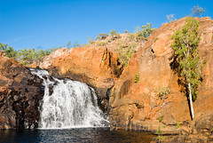 Upper falls at Edith Falls (whitworth images) Tags: travel red tourism nature water pool beautiful stone river landscape outdoors waterfall site nationalpark pond rocks natural gorgeous scenic katherine australia landmark scene falls cliffs stunning tropical pure cascade tropics delightful northernterritory ecotourism unspoiled escarpment plungepool upperfalls unspoilt edithfalls nitmiluknationalpark leliyn