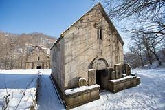 JUKHTAK-VANK-10 (RAFFI YOUREDJIAN PHOTOGRAPHY) Tags: trees roof winter snow church canon ancient scenery cross scenic twin armenia 5d 1915 genocide mkiii vank dilijan khackars jughtak