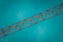 flirtatious boom (axi11a) Tags: sky sunrise construction crane boom jib lattice towercrane