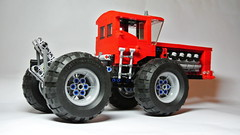 Massive Articulated Tractor (hajdekr) Tags: tractor steering lego engine technic massive vehicle agriculture v8 articulated agro