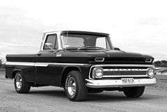jack (Burnt Out Chevrolet) Tags: new shadow bw usa white man black classic chevrolet lamp wheel breakfast truck vintage out person 50mm lights one bay moving 60s gm driving general 1st head fat sony sunday wheels wide over wing stripe first pickup retro 64 tires motors ute zealand chevy bumper chrome american nz hood series 1960s windshield february alpha a200 ck bonnet windscreen napier generation bnw exposed phat bleached gravel tyres 1964 indicator chev mirroe hawkes c10 westshore petrolheads worldcars