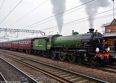 No 61306 Mayflower 11th Feb 2015 Colchester (Ian Sharman 1963) Tags: station train tour no great engine royal cathedrals rail railway loco trains class steam norwich windsor locomotive express passenger 11th feb eastern railways colchester mayflower b1 the 460 mainline 2015 geml 61306 norfolkman