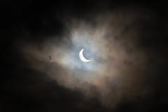 Fly, You Fools! (Lance Sagar) Tags: sky sun moon birds clouds canon solar eclipse astro astrophotography lee 7d filters 200mm arceye whycanistillseeitnow