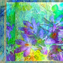 Crocus Graffiti (virtually_supine) Tags: photomanipulation graffiti grunge creative textures layers abstraction grainy digitalmanipulation crocuses pse9 photoshopelements9 treatthis72kreativepeoplegroup crocusesbyskagitrenee pse9effects~accentuatededgescustomoffsetliquify
