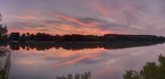 Primavera sul Po (fotopierino) Tags: canon tramonto mark iii fiume po 5d riflessi piacenza 1740mm riflesso fotopierino