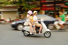 Street Life - Hanoi (Subtitle Asia Overloaded #14) (Andrea_b.) Tags: street people urban walking blurry flickr traffic streetlife vietnam hanoi overloaded reportage longtimeshooting fujixpro1 fujinonxf1855f284r