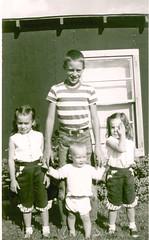 Summer vacation with grandparents - Jensen, UT summer 1955