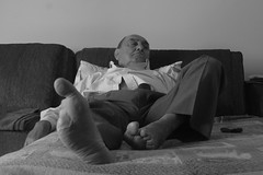 Wait (victor.romao) Tags: people bw sleep grandpa elderly disabled strong rest aged