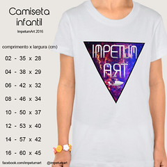 Camiseta Infantil (IMPETUM T) Tags: art moda infantil indie camiseta altura roupas tamanho ilustraes blusas babylook vestimentas comprimento largura impetum impetumart