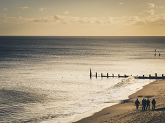 Seascape at sunset (lauradavison) Tags: light sunset sea seascape beach evening coast suffolk seaside dusk filter southwold lightroom