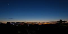 Nautical Twilight (amirjanamihajlovic) Tags: london nauticaltwilight twilight canon sky moon