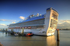 Caribbean Princess in Liverpool (Jeffpmcdonald) Tags: uk liverpool cruiseship princesscruises caribbeanprincess rivermersey liverpoolcruiselinerterminal carnivalplc nikond7000 jeffpmcdonald may2016