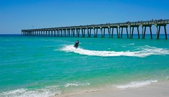 A day at the beach. Why not? (Nino Mndez) Tags: gulfofmexico pier fishing sand florida sony pensacola flickrelite a6000 fe28mm