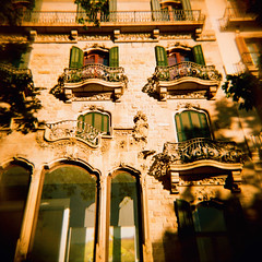 Architecture (JoetheLion) Tags: barcelona españa lomo xpro crossprocessed spain diana dianaf