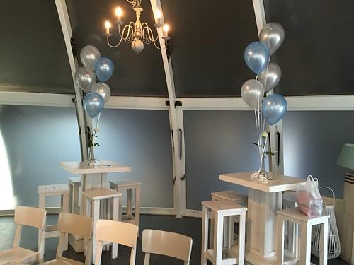 Tafeldecoratie 5ballonnen Abel Poortugaal
