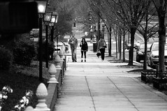 Having Coffee (John Bense) Tags: street city urban blackandwhite coffee monochrome circle washingtondc couple sidewalk dupont dupontcircle