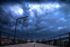 Untergang (Thomas TRENZ) Tags: vienna wien bridge storm clouds way austria sterreich nikon wolken thunderstorm armageddon tamron brcke weg untergang downfall sturm d600 unwetter trenz thomastrenz