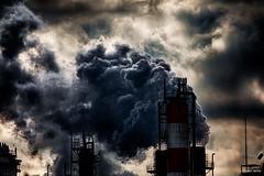Rising smoke - もくもく (uemii2010) Tags: chimney cloud plant japan industrial factory smoke kanagawa kawasaki cooljapan technoscape canoneos450d canoneoskissx2 canonefs55250mm canoneosrebelxsi