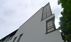 Postmodern Architecture at hidden places: Polizeidirektion Esslinge, near Stuttgart, Germany. (Winfried Scheuer) Tags: building window architecture macintosh geometry charles historic retro edge classical elegant gsa