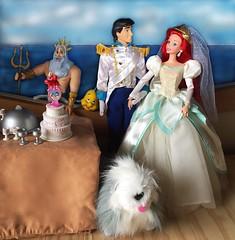 Happy Mer-Father's Day (Richard Zimmons) Tags: ariel store doll king barbie 1997 mattel triton littlemermaid disneyprincess princeeric oceanbride