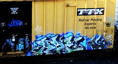 abe KIS (timetomakethepasta) Tags: abe kis freight train graffiti lae buger taf icr nere bale whistleblower moniker vew ttx boxcar tbox