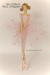 Bailarina Tilda (Dani_Fressato) Tags: doll handmade artesanato craft boneca tilda bailarina trabalhomanual danifressato