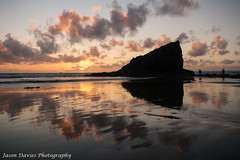 Reflections on the beach (Jason Davies Photography) Tags: sunset sea beach water silhouette canon reflections landscape photography coast seaside rocks westwales colours outdoor coastline ripples pembrokeshire broadhaven wetsand beachscape pembrokeshirecoast pembrokeshirewales canonphotography sigmalenses canon1000d sigma1850f2845 broadhavensunset jasondaviesphotography