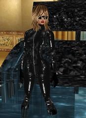 20 (SoakinJo) Tags: leather fetish heels catsuit wetlook wetclothes imvu extremeheels