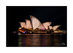 Sydney Opera House in warm coppery tones - Vivid Sydney 2016 (sugarbellaleah) Tags: city travel light red urban orange brown colour tourism beautiful yellow architecture modern night gold beige pretty pastel sydney vivid australia kaleidoscope event nsw copper nightlife annual iconic sydneyharbour sydneyoperahouse pettern destinationnsw