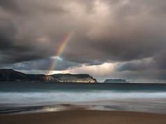 Paradise found (Tassie Fig) Tags: rainbow au australia olympus tasmania crescentbeach tasman halfmoonbay zuiko omd 2016 tasmanpeninsula em5 tasmanisland tasmannationalpark capepillar u43 microfourthirds mzuiko 1240mmf28