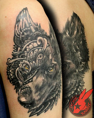 Dog Wolf Portrait Tattoo by Jackie Rabbit (Jackie rabbit Tattoos) Tags: california ca dog flower color tree sexy bird nature beautiful northerncalifornia tattoo vintage dark nude skull star 3d scary colorful artist heart good infinity wildlife feather evil best tattoos sunflower anchor norcal chico piece westcoast tat sleeve compass compassrose realistic locket ribtattoo besttattoo bestin paradisecalifornia portraittattoo monstertattoo horrortattoo inkmaster besttattooartist pintrest jackierabbit bestink realisticskulltattoo trashpolka eyeofjade polkatrash besttattooartistinchico besttattooartistincalifornia