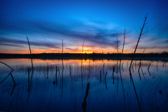 I've Got The Blues (DJawZ) Tags: old blue sunset sky cloud lake color tree water clouds landscape pond long exposure outdoor dusk nj filter nd fujifilm density neutral xt1