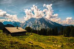 (dastine) Tags: mountains alps clouds landscape cottage htte wolken berge hut alpen landschaft