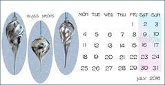 July 2016 (heatherpix) Tags: glass calendar july