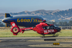 medical emergency flight (pbo31) Tags: california red color basketball june spring airport nikon flight medical helicopter finals bayarea blimp warriors eastbay reach emergency livermore nba goodyear municipal alamedacounty 2016 boury pbo31 d810