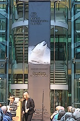 The exhibition banner (Pascal Volk) Tags: berlin kreuzberg willybrandthaus swpa travelingexhibition sonyworldphotographyawards wanderausstellung berlinfriedrichshainkreuzberg sonydscrx100 illustrationhigh