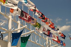 """Flags of the Fleet"" (canaltowntraveler) Tags: the flags great lakes shipping fleets picmonkey"