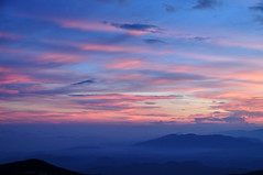 Sunrise at Adam's Peak, Sri Lanka (TareqD) Tags: travel blue sky orange cloud colour clouds sunrise photography dawn nikon adams outdoor peak sri lanka tamron amateur dalhousie pada d5000