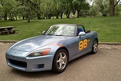 seat4_edited (Grant.C) Tags: blue bar honda stripes vinyl pole fender numbers roll suzuka position s2000 pp poleposition rollbar recaro ap1 rsg