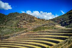Urubamba ruins (Tydence) Tags: peru inca ruins terraces tourists urubamba