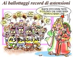 Astensione (Moise-Creativo Galattico) Tags: dante vignette satira attualit moise giornalismo astensione editoriali moiseditoriali editorialiafumetti
