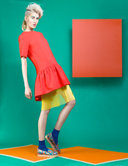 I Need A Pop Of Color - Kaltblut Magazine (Ekin Can Bayrakdar Photography) Tags: blue red england color london fashion yellow magazine colorful editorial retouch publish ekincanbayrakdar