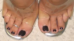 Toe Desire (Jaylynn's Best Feeture) Tags: jaylynn sandals stocks tanned sexy heels legs summer11 female feet toes highheels ankles stockings soles barefoot calves fetish young soft skin frenchpedicure footfetish arches flipflops pedicured anklet toering jewelery stilettos