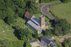 Watlington St Peter & St Paul Church - Norfolk aerial image (John D F) Tags: church norfolk aerial aerialphotograph watlington