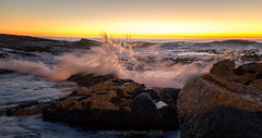 sunset burst (WITHIN the FRAME Photography(4 Million views tha) Tags: longexposure sunset seascape rocks waves wide capetown spray boulders coastal burst eos6d 1635mmlens